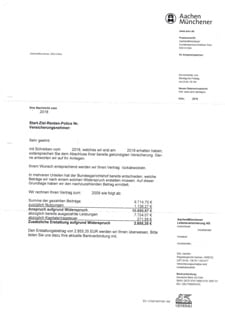 Abrechnungsschreiben von aachenmuenchener1